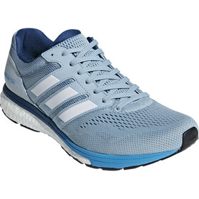 adidas Adizero Boston 7 Shoes Herren ash grey/ftwr white/shock cyan